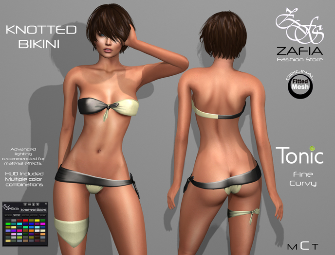 ZAFIA Knotted Bikini-Tonic