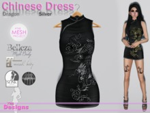Chinese Dress Dragon Silver