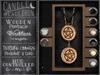 {C&C} Wooden Pentacle Necklace