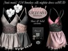 baii maii 154 Smokey silk nightie Dress wHUD Dress Lingerie Mesh Maitreya Lara