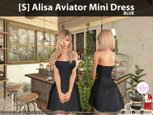 [S] Alisa Aviator Mini Dress Blue