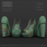 Maubray // Lola Wedges.green