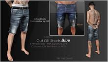 <Kalback> Cut Off Shorts_Blue