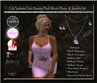 [CS] Cute Bunny Pink Micro Dress  & Jewelry Set [ Maitreya Belleza Slink TMP ]