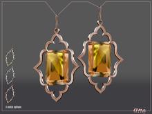 A N E Jewelry - Moroccan Gem Earrings PEACH