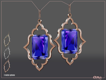 A N E Jewelry - Moroccan Gem Earrings COBALT