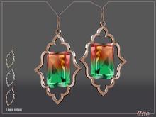 A N E Jewelry - Moroccan Gem Earrings OMBRE 1