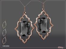 A N E Jewelry - Moroccan Gem Earrings ONYX