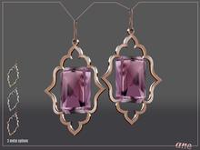 A N E Jewelry - Moroccan Gem Earrings PINK