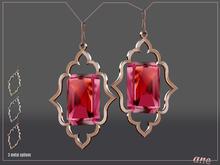 A N E Jewelry - Moroccan Gem Earrings RUBY