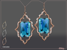 A N E Jewelry - Moroccan Gem Earrings SKY