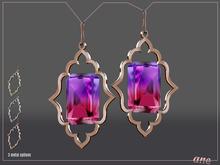 A N E Jewelry - Moroccan Gem Earrings OMBRE 3
