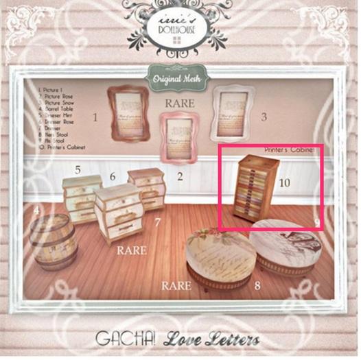 i { DH } Gacha! Love Letters Printer's Cabinet RARE