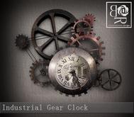 [BR] Industrial Gear Clock
