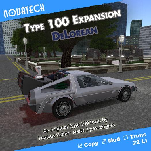 Type 100 Form - DeLorean
