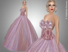FaiRodis Pink flower wind gown for all avatars pack