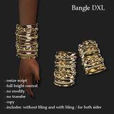 BANGLE DXL GOLD       -RYCA-