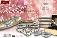 EarthStones Sweet Romance Wedding Ring Set
