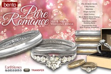 EarthStones Pure Romance Wedding Ring Set