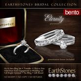 EarthStones Bridal - Eternity Wedding Rings - Platinum Engagement Bento