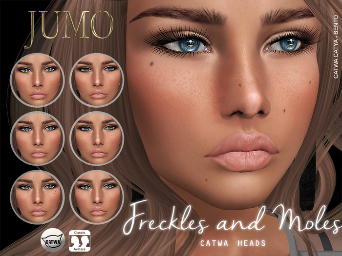 .:JUMO:. Freckles and Moles - Catwa - ADD ME