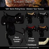 The Texture Barn - Black Western Tack for WH Bento Horse