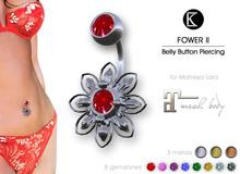[*K*] Piercing Belly Flower II - Maitreya Lara