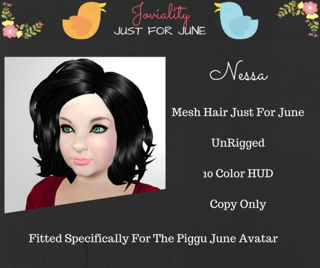 Joviality - Nessa Mesh Hair  :: Wear To Unpack::