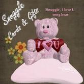 'Snuggle' I Love U  music large  bear