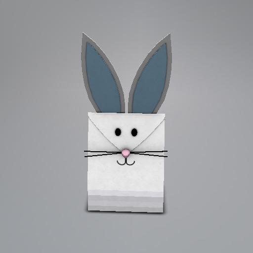 Blue Bunny Mesh Giftbag