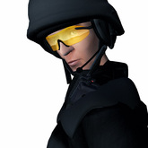 Yellow Shooting Glasses, Sculpted Eye Protection