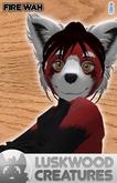 Luskwood Red Panda (Wah) Avatar - Fire Red Male