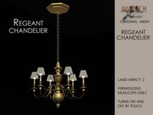 MX Chandelier Regeant Gold