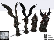 Vampire Statue X4 Full Perm Mesh