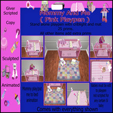 Mommy and Me ( Baby Girl Pink Playpen )
