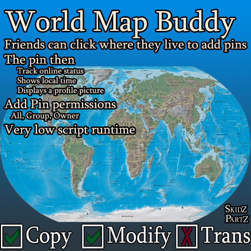 Skidz Partz - World Map Buddy