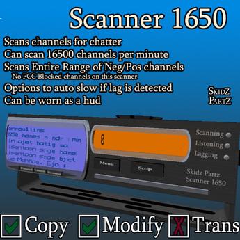 Skidz Partz - Scanner 1650 (Boxed)