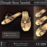 < Yabusaka > Simple Gem Sandal