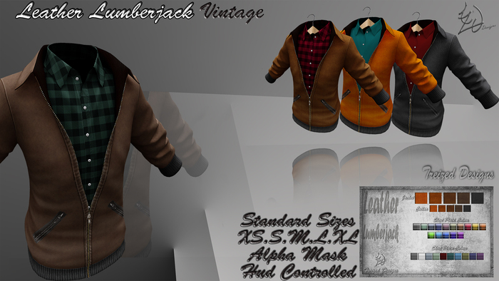 -Treized Designs- Leather Lumberjack Vintage