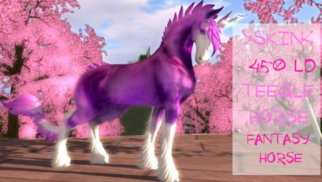 "◄◄ W.L.F ►► Skin for Teegle Horse ""Fantasy Horse"""