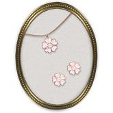 ".:*:. Kotolier .:*:. ""sakura"" jewelry set (pink stone)"