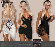 .:-->> YELIZ <<--:.  *BRUNA* frilled BoHo Dress - MEGA-HUD -