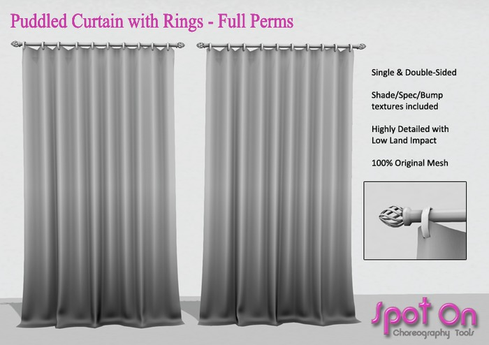 *SO* Puddled Curtains with Rings - Full Perms