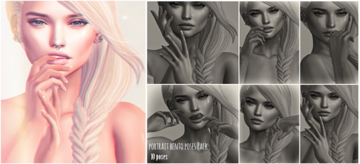 Lyrium. Portrait Bento Poses Pack