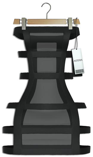 """Asteria """"Sassy"""" [Maitreya/Belleza] Banded Dress - Black"""