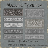 Madville Textures - Ornamental Silver Pewter Textures