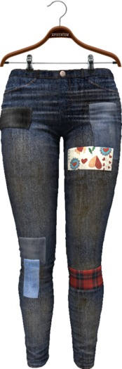 !APHORISM! Ana Patched Jeans - Stained