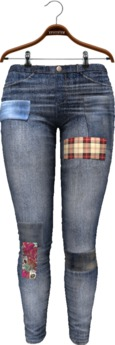 !APHORISM! Ana Patched Jeans - Worn