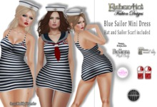 ~ Blue Sailor Mini Dress ~