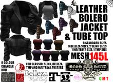 Mesh Head - Leather Bolero Jacket & Tube Top - MAITREYA / SLINK / BELLEZA / TMP
